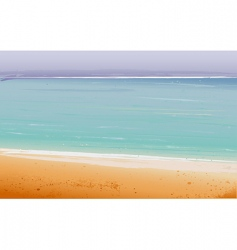 summertime at the beach sea vector image