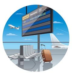 Terminal airport vector