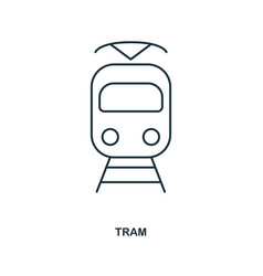 tram icon outline style icon design ui vector image