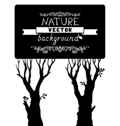 Trees silhouettes isolated on white background vector image