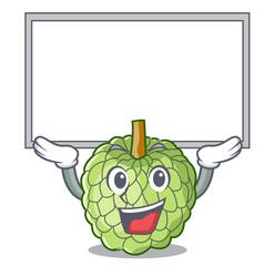up board sugar apple fruit isolated on cartoon vector image