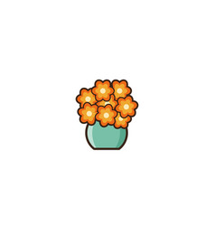 vase with flowers in flat design vector image