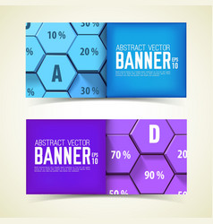web geometric horizontal banners vector image