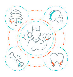 Website banner and landing page medicine vector