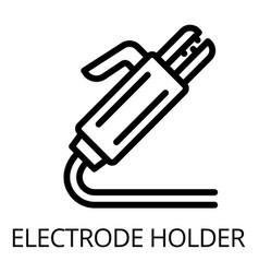 Welding electrode holder icon outline style vector