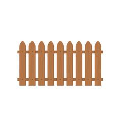 Wooden fence icon farm wood wall yard cartoon vector