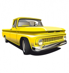 yellow pickup vector image
