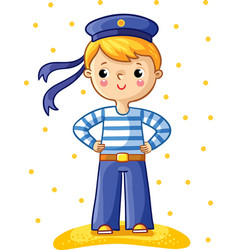 Young sailor cartoon character vector