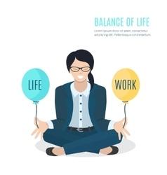 Businesswoman meditating vector image