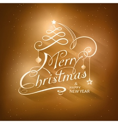 Calligraphy Merry Christmas Typography vector image vector image