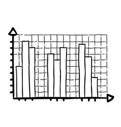 cartoon image of graph icon chart bar symbol vector image