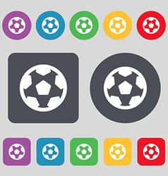 Football soccerball icon sign A set of 12 colored vector image
