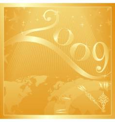 happy new year 2009 vector image vector image