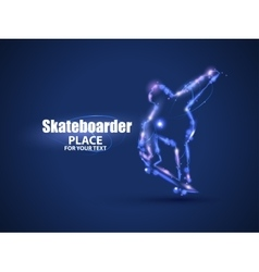 Motion design Skateboarder jump on skateboard vector image