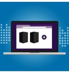 server virtualization software IT infrastructure vector image