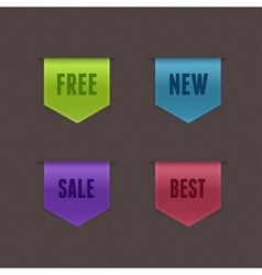 Set of 4 quality ribbons vector image