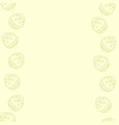 soft pastel yellow background with easter eggs vector image vector image