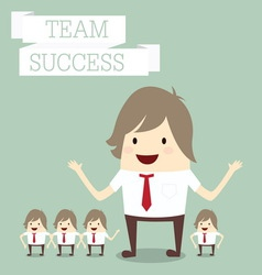 businessman group with words team and success busi vector image
