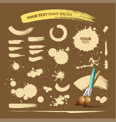 Paint brush vintage ink texture background vector image vector image