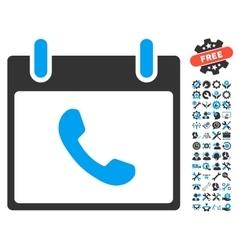 Phone Calendar Day Icon With Bonus vector image vector image