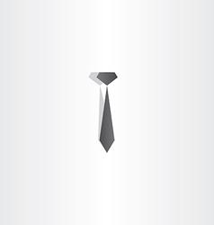black tie icon design vector image vector image
