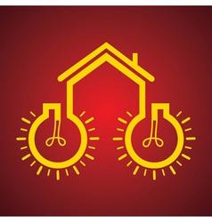 Bulb make a home vector image vector image