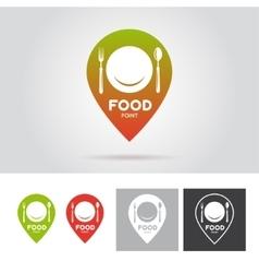 Food point sign emblem label Vintage vector image