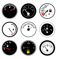 Fuel guages vector image vector image