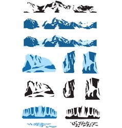 ice collection vector image vector image