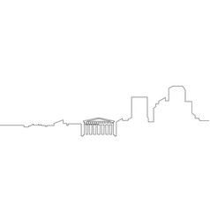 isolated athens cityscape vector image