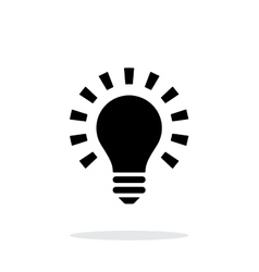 More light icon on white background vector image