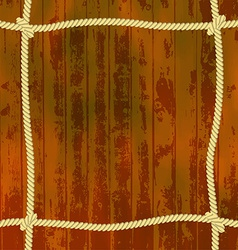 Ropes on the wood vector image