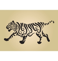 Tiger ornament decoration vector image vector image