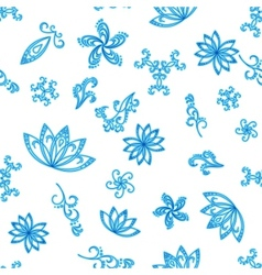 abstract blue seamless background vector image vector image