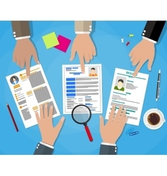 Human resources management concept vector image vector image