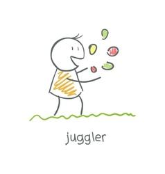 juggler playing with balls vector image vector image