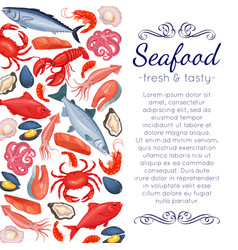 seafood page design vector image