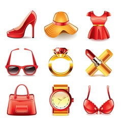 set fashion vector image