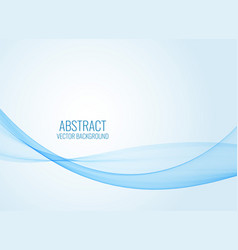 abstract blue wavy shape background vector image