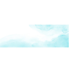 abstract light blue stain watercolor for vector image
