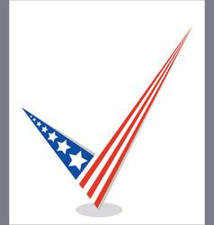 american flag check mark vector image