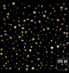 background with 3d gold stars glitter pattern for vector image