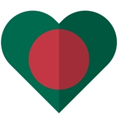 Bangladesh flat heart flag vector
