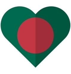 Bangladesh flat heart flag vector image