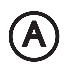 basic font for letter a icon design vector image