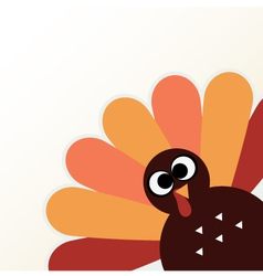 Beautiful cartoon turkey bird for thanksgiving day vector