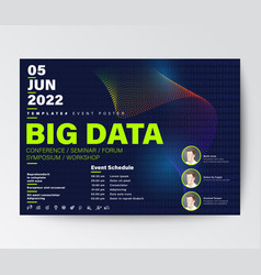 big data conference business design template vector image