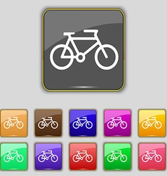bike icon sign Set with eleven colored buttons for vector image