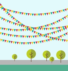Birthday holiday festival decoration outdoor in vector image