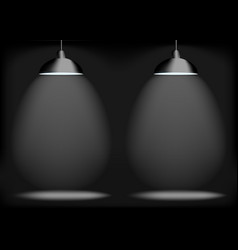 Black abstract background spotlight on stage with vector